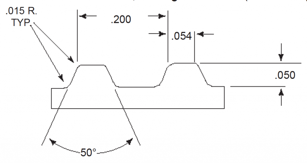 belt profile with dimensions