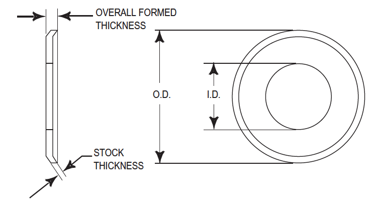 iso drawing with arrows indicating flange dimensions