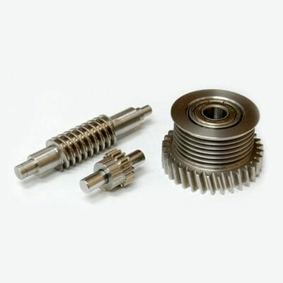 Worm Shaft, Spur Gear, Combination of Helical Gear and Poly-V Pulley