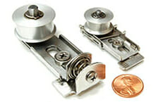 Two steel tensioners with penny