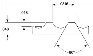 belt profile drawing