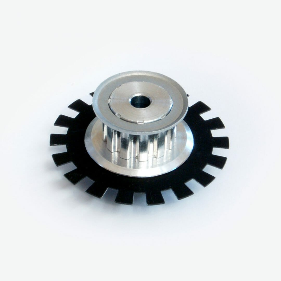Slotted Timing Pulley with Encoder